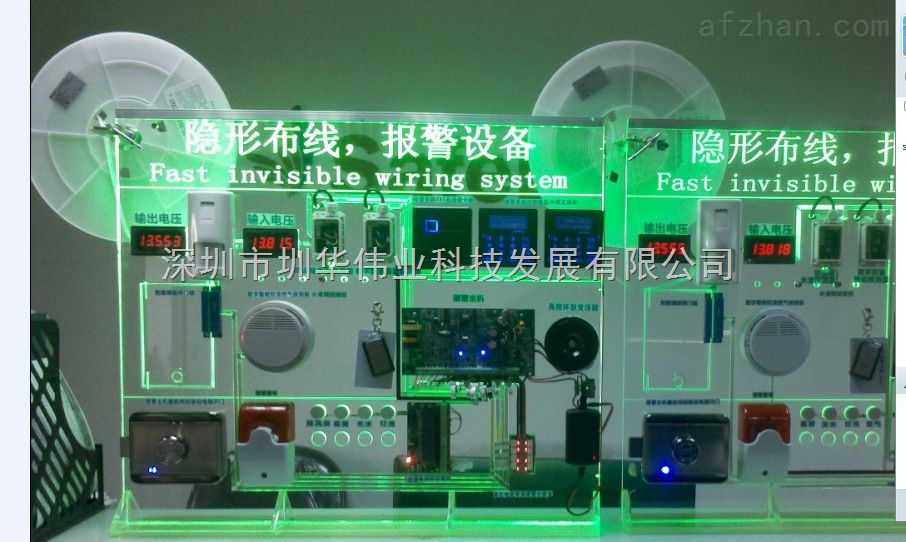 zh-zb-隐形布线-智能安全报警系统展板