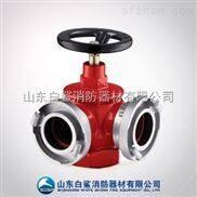 消防器材公司供应单阀双出口型室内消火栓