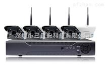 三正1080P 200万无线高清4路网络监控设备套装 家用摄像头套餐