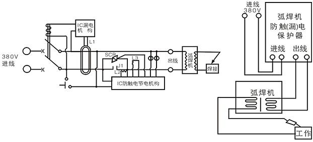老式输入4个电焊机接线图