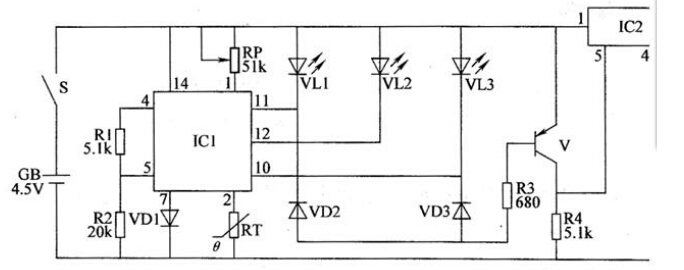 温度监测报警器电路工作原理