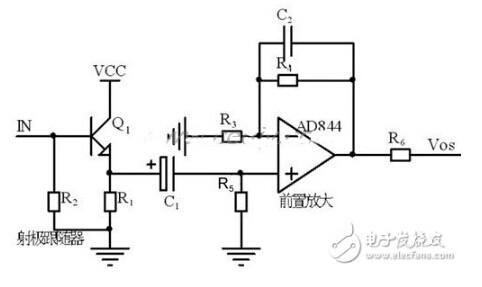 前级处理的电路如图所示