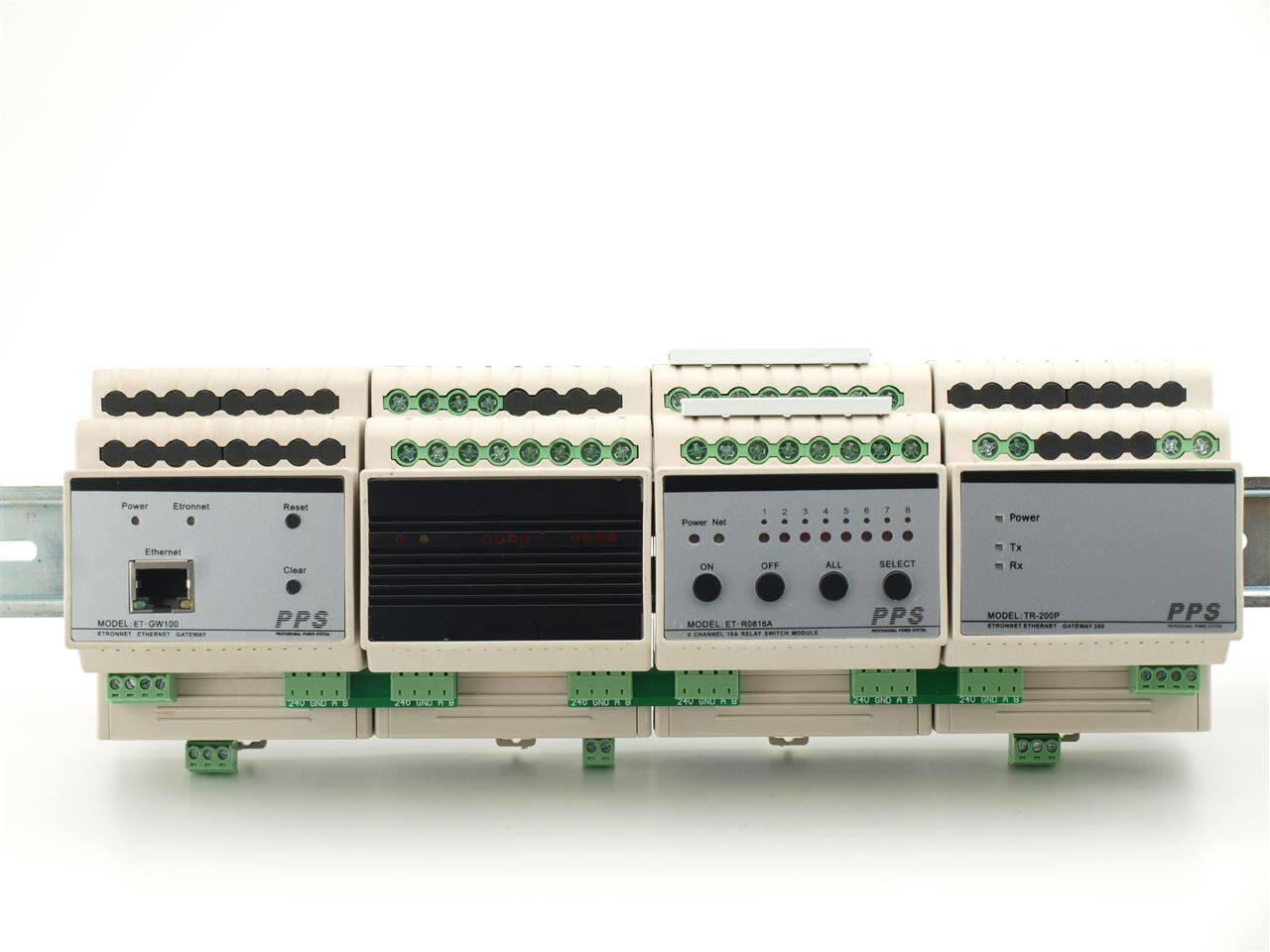 12路16a导轨式智能照明继电器电箱开关控制器模块可接快思聪amx