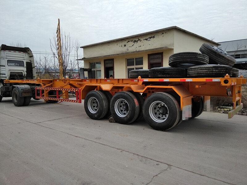 载重分析集装箱骨架运输车长宽高